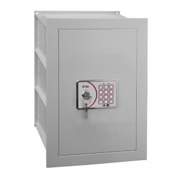 Caja seguridad electronica digital empotrable modelo b doble fondo 40X35,4x29,8cm