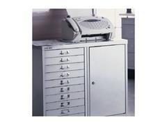 Armario metálico puerta batiente + 10 cajones. Apertura derecha. 700x670x460mm. Gris