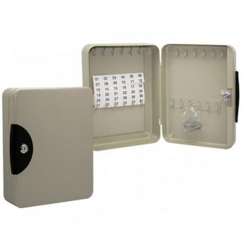 Armario para llaves 24 llaves 19x24,9x8,2 cm color gris