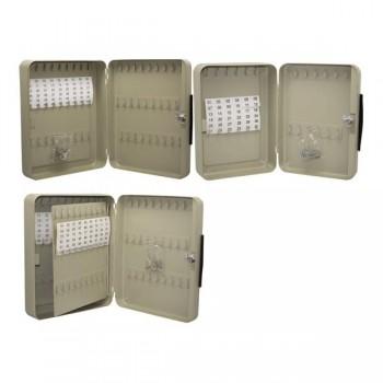 Armario para llaves 54 llaves 25x30x8,4 cm color gris